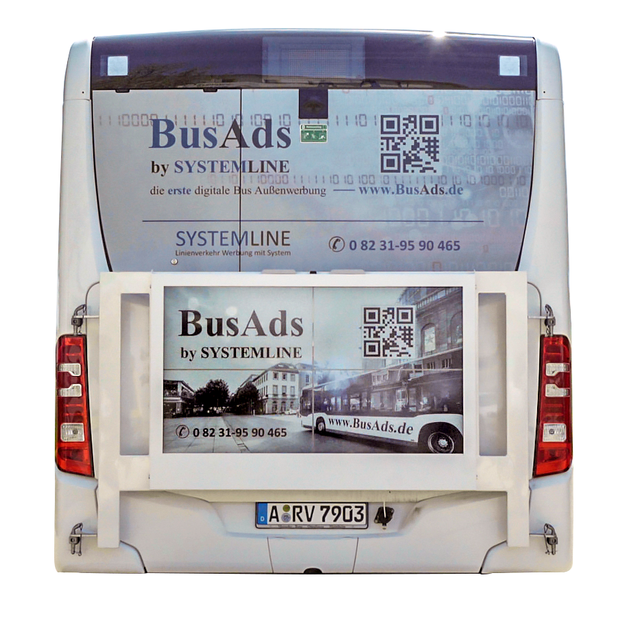 Digitale Buswerbung
